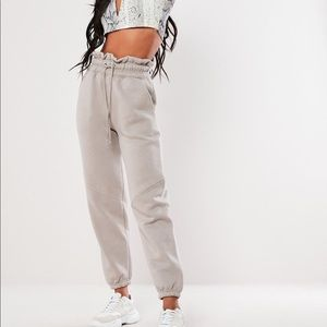 Missguided Paper Bag Waist Joggers
